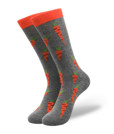 long socks with carrot print