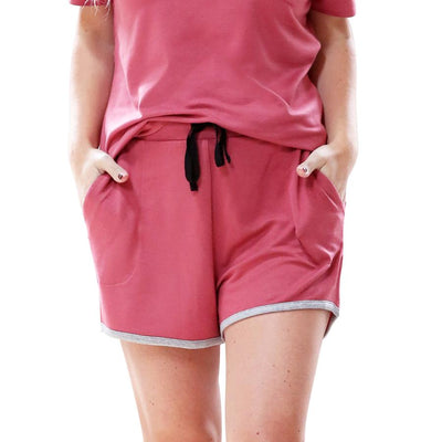 Weekender Pyjama Set Short Sleeve Salmon Colour