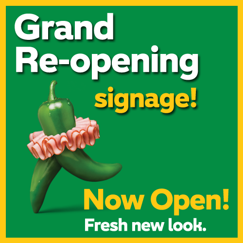 Now Open / Grand Re-opening