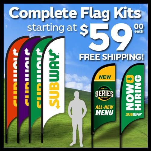 Feather Flag Complete Kits