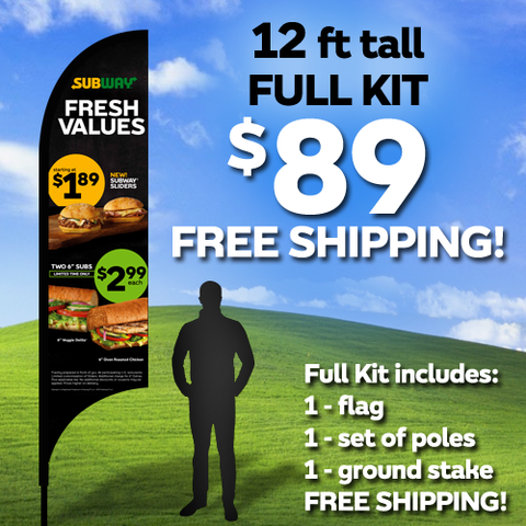 Fresh Values 12ft Flag Kit