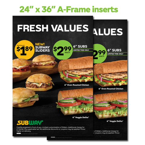 Fresh Values A-Frame Sign Inserts