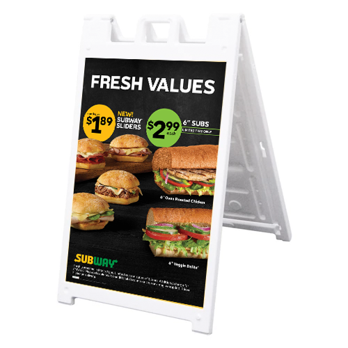 "Fresh Values 24"" x 36"" A-Frame Hardware"
