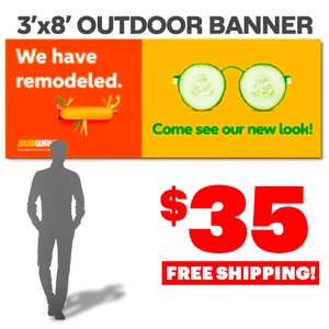 Remodeled / New Look Banner (3'x8')