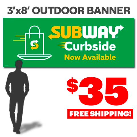 Curbside Outdoor Banner (3'x8')
