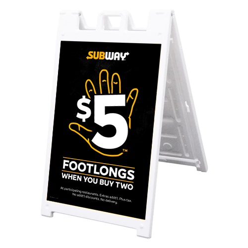 "$5 Footlongs 24"" x 36"" A-Frame Kit"