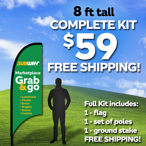 8ft Flag Kit - Marketplace Grab & Go