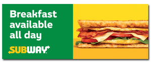 Breakfast All Day (3'x8' Banner)