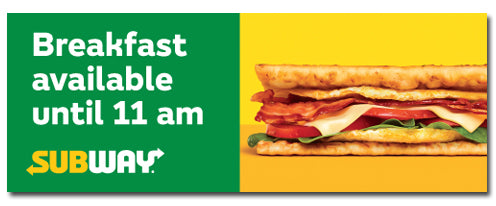 Breakfast 11am (3'x8' Banner)