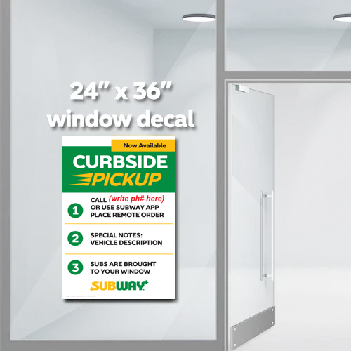 "Curbside Info Window Decal (24""x36"")"