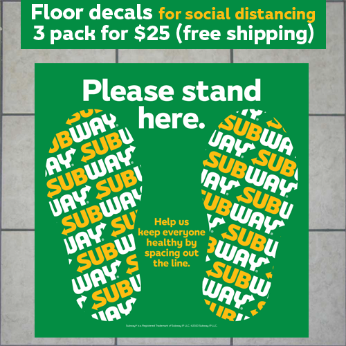 Floor Graphic 3 pack (social distancing)