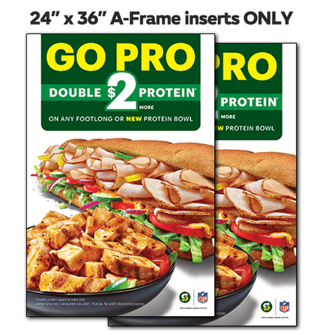 "GO PRO Inserts ONLY 24""x36"""