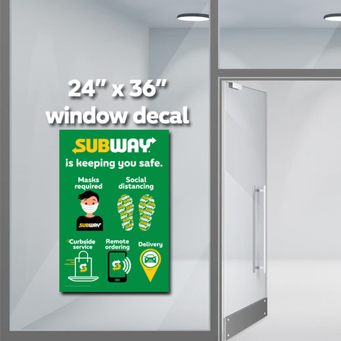 "Subway Safe window decal (24""x36"")"