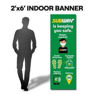 Subway Safe Vertical Banner (2'x6')