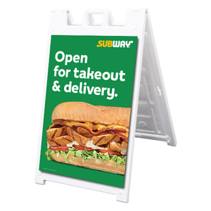 "Takeout & Delivery A-Frame/Inserts 24""x36"""