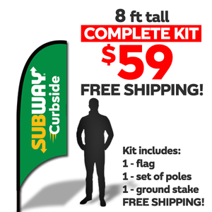 8ft Flag Kit - NEW Curbside