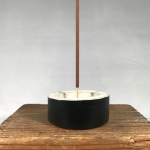Concrete Incense Holder - Black