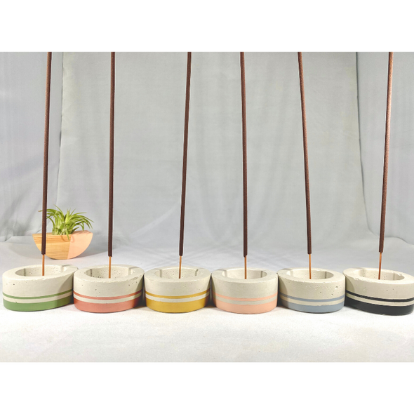 Concrete Incense Holder - Stripe