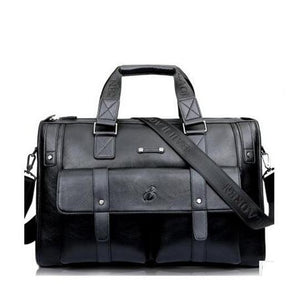 "Leather Style Mens Traveller Messenger Bag 14""-15"""