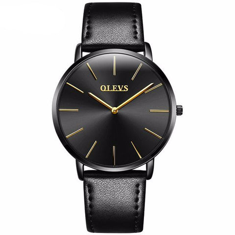 Genuine Leather Ultra Thin Watch
