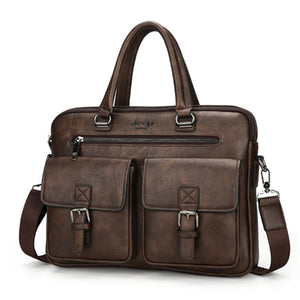 Jeep Leather Messenger Bag 14""
