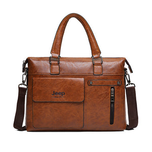 Jeep Buluo Leather Style Shoulder Bag 14""