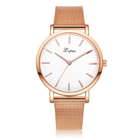 Womens Stainless Steel Watch - Rose Gold