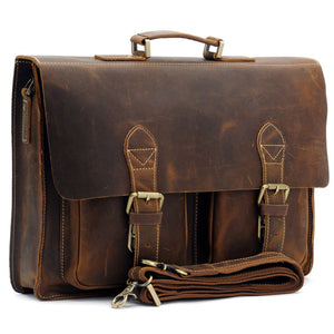 U.H Vintage Leather Briefcase