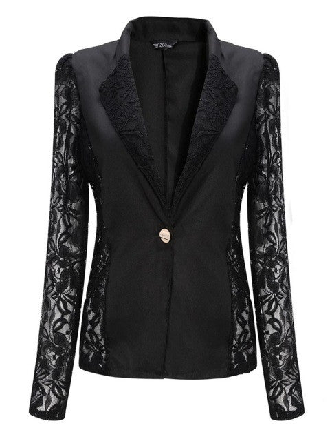 In Lace Blazer Suit