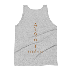 Vertical Logo Tri-Blend Tank (Copper Print) - Acropolis Nutrition