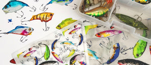 fishing lure fabric from Limezinnias Design at Spoonflower