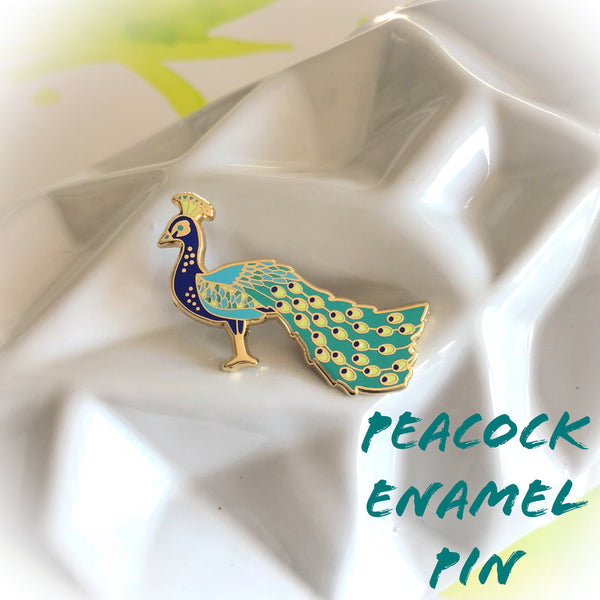 Peacock Enamel Pin