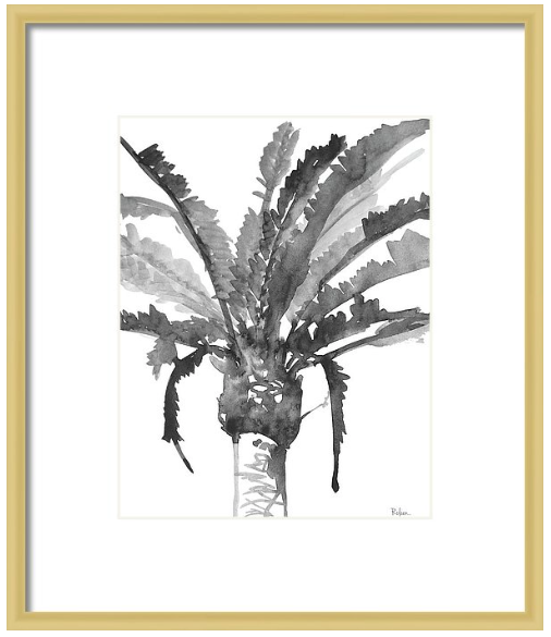 Stand Tall Black & White Palm Tree Print