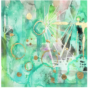 Mint Bling Mint Green Abstract Art Print