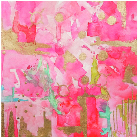 Blushing Shades Pink Abstract Print