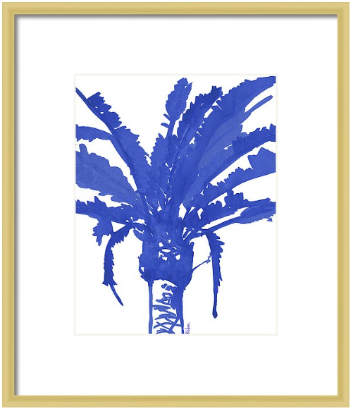 Stand Tall Blue Palm Tree Print