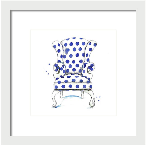 Cobalt Olivia Chair Print
