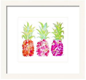 Tropical Gold & Pink-Pineapple Art Print