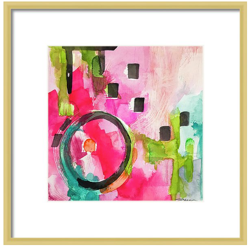 Flamingo Circle Print