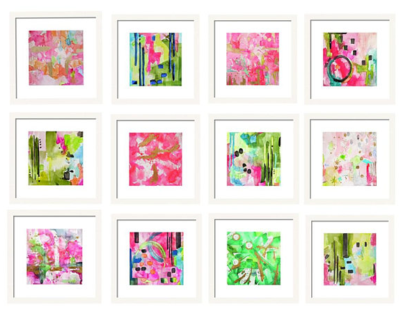 Set of 12 Abstract Prints for Gallery Wall Art Set ...  sc 1 st  Limezinnias Design & Set of 12 Abstract Prints for Gallery Wall Art Set u2013 Limezinnias Design