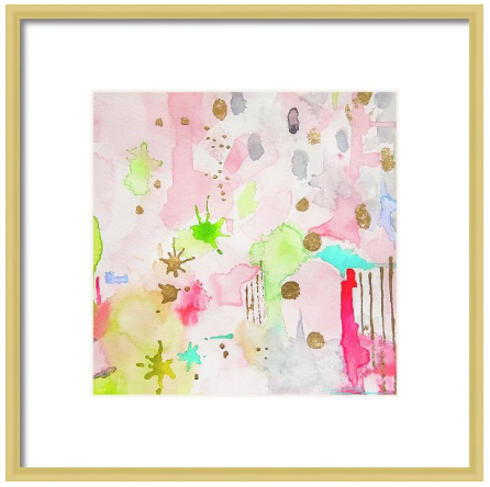 Celestial Pink Abstract Print