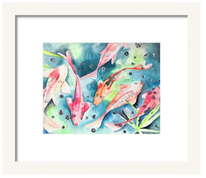 The Koi Pond Art Print