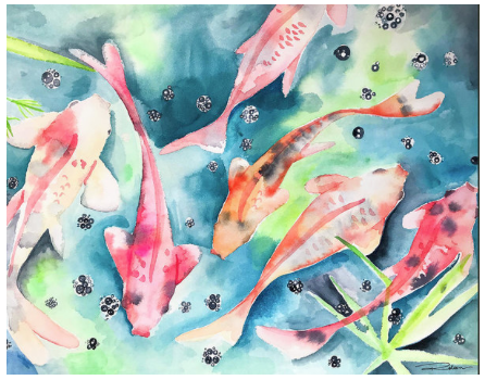 The Koi Pond Print