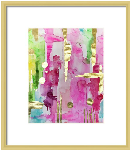 Pink & Glam Gilded No2 Print