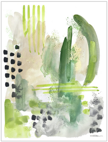 Moss Green Abstract Art Print
