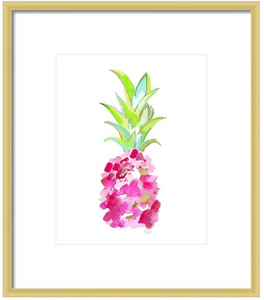 Tropical Pink Pineapple Art Print
