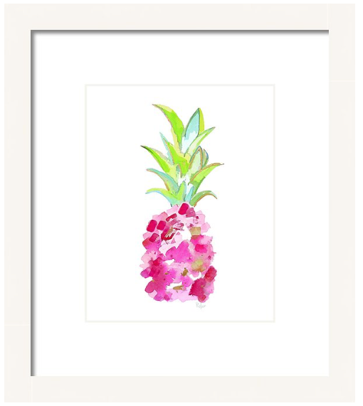 Tropical Pink Pineapple Print
