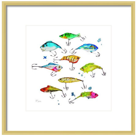 Fishing is Fly No4 Art Print