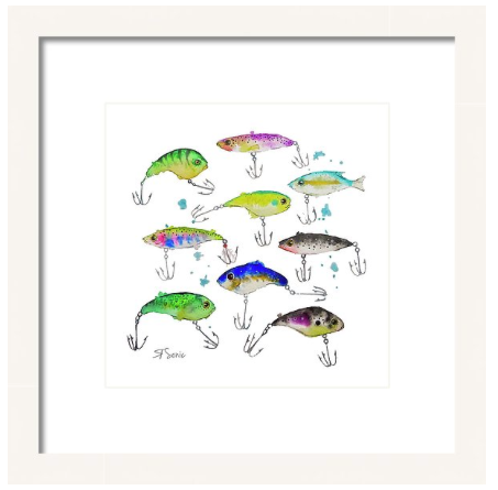 Fishing is Fly No3 Print
