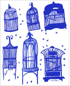Parisian Birdcages Art Print